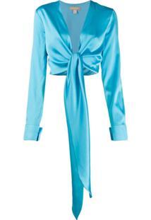 Matériel Tie-Waist Blouse - Azul