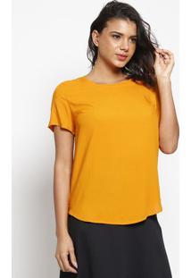 Blusa Texturizada Com Vazado- Amarelo Escurohering