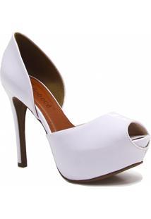 Sapato Bebecê Peep Toe Verniz