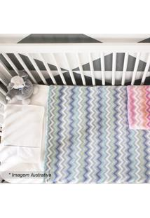 Cobertor Zigzag- Azul Claro & Azul Escuro- 90X110Cmcamesa