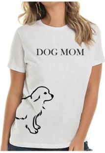 Camiseta Dog Mom Namorados - Buddies Feminina - Feminino-Branco