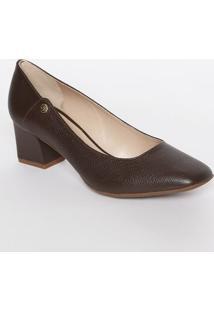 Sapato Tradicional Em Couro Com Recortes- Marrom- Sajorge Bischoff