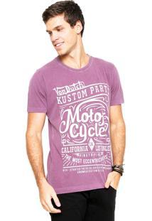 Camiseta Von Dutch Lettering Roxa