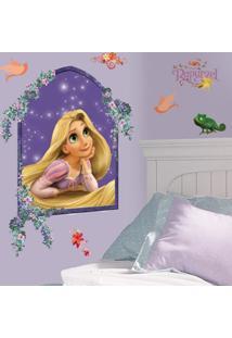 Adesivo De Parede Rapunzel Na Janela