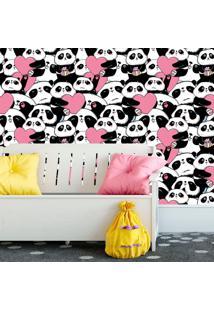 Papel De Parede Panda Coração