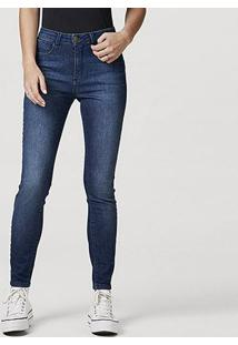 Calça Jeans Skinny Hering Feminina - Feminino-Azul