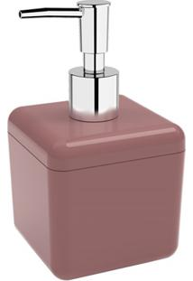 Porta Sabonete Líquido Cube 330Ml Rosa Malva