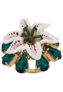 Dolce & Gabbana Anel Floral - Branco