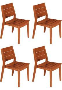 Conjunto Com 4 Cadeiras Para Área Externa I Toscana Marrom