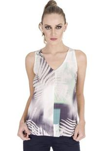 Regata Estampada Calvin Klein - Feminino-Off White