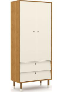 Roupeiro 2 Portas Up Freijó/Off White/Eco Wood Matic Móveis