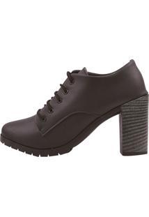 Sapato Chiquiteira Cano Curto Salto Alto Preto Ron