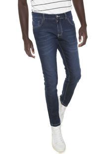 Calça Jeans Local Skinny Estonada Azul