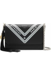 Givenchy Carteira Com Corrente E Logo - Black
