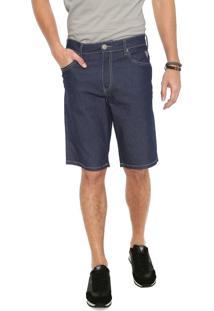 Bermuda Jeans Cavalera Reta Ulisses Azul