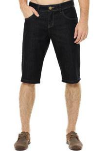 Bermuda Jeans Eventual Middle Plus Masculina - Masculino-Preto