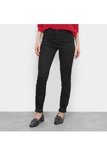Calça Jeans Lacoste Denim Feminina - Feminino-Preto