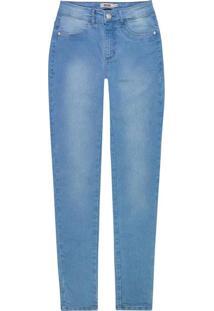 Calça Azul Skinny Jeans Estonada