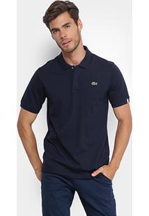 Camisa Polo Lacoste Live Malha Textura Masculina - Masculino