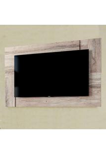 Painel Para Tv Extensivo Delfos Até 55'' Castanha Rústico/Branco -Colibri Móveis