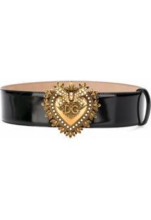 Dolce & Gabbana Cinto Com Logo Na Fivela - Preto