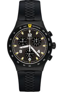 Relógio Swatch Masculino Borracha Preta - Yvb405