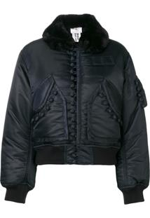 Comme Des Garçons Noir Kei Ninomiya Cropped Bomber Jacket - Azul