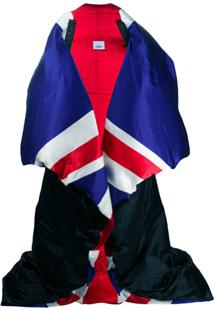 Burberry Pelerine Union Jack - Preto