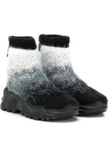 Cinzia Araia Kids Ankle Boot Com Pelos - Cinza