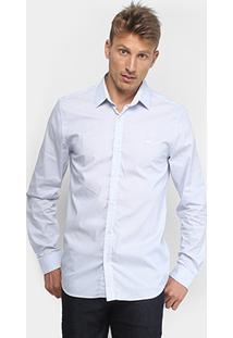 Camisa Lacoste Bordado Masculino - Masculino-Azul Royal