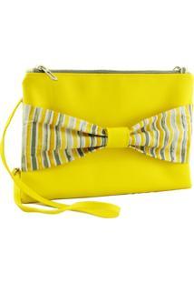 Bolsa Clutch Duccini Laço Amarela