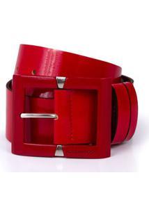 Cinto Cintura Quadril Medio Verniz Vermelho