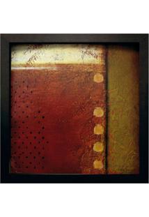 Quadro Caixa Abstrato Ii Preto 33X33 Cm Kapos