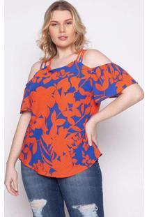 Blusa Almaria Plus Size Kayla Tondela Estampado La