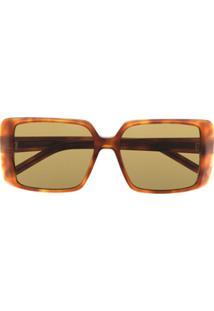 Saint Laurent Eyewear Óculos De Sol Quadrado Sl451 - Marrom