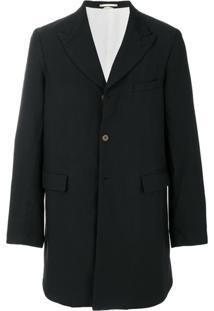Comme Des Garçons Homme Plus Single-Breasted Coat - Preto