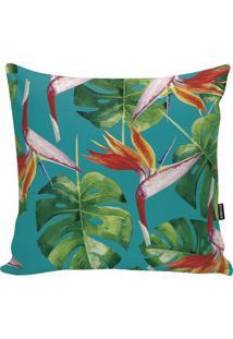 Capa Para Almofada Tropical- Azul Turquesa & Verde- Stm Home