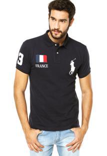 Camisa Polo Ralph Lauren França Azul
