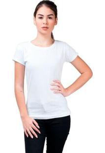 Camiseta Baby Look Básica Part.B Gola Redonda Feminina - Feminino-Branco
