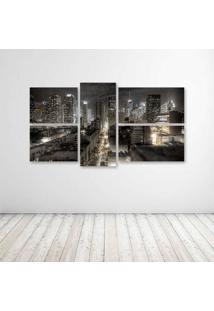 Quadro Decorativo - Dark New York - Composto De 5 Quadros