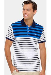 Camisa Polo Colcci Piquet Listras Masculina - Masculino