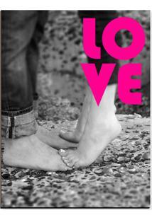 Quadro Adoraria Placa Mdf Love Preto