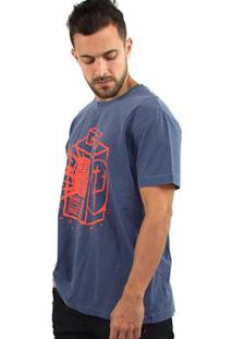 T-Shirt Osklen Stone Noise Box Masculina - Masculino-Azul