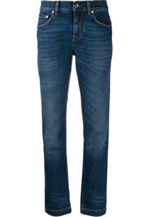 Dolce & Gabbana Mid-Rise Slim-Fit Jeans - Azul