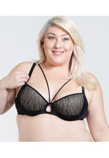 Sutiã Feminino Push Up Strappy Plus Size Marisa