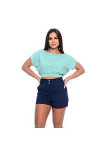 Blusa Cropped B'Bonnie Sarita Menta