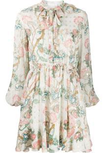 Chloé Long-Sleeved Pleated Dress - Neutro