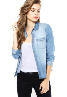Camisa Jeans Sommer Estonada Azul