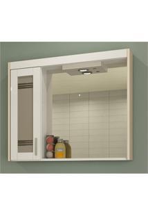 Espelheira Com Luminária Imola 67,5X80Cm Branca