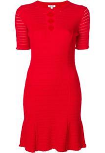 Kenzo Vestido Com Detalhe Recortado - Vermelho
